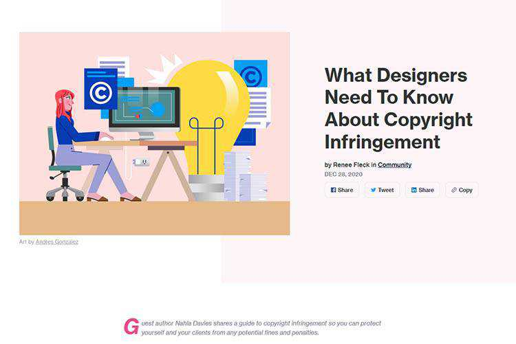 Example from What Designers Need to Know About Copyright Infringement