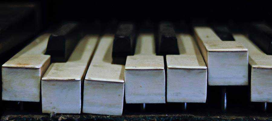 Broken piano keys.
