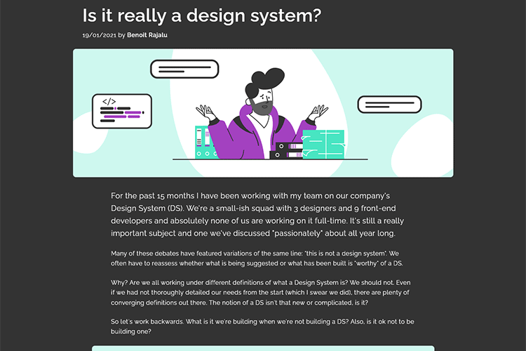 Example from Is it really a design system?
