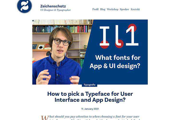 Example from How to pick a Typeface for User Interface and App Design?