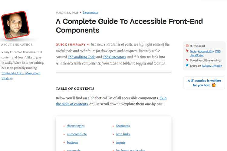 Example from A Complete Guide To Accessible Front-End Components