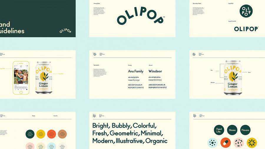 Olipop Sparkling Tonics brand identity design inspiration logo
