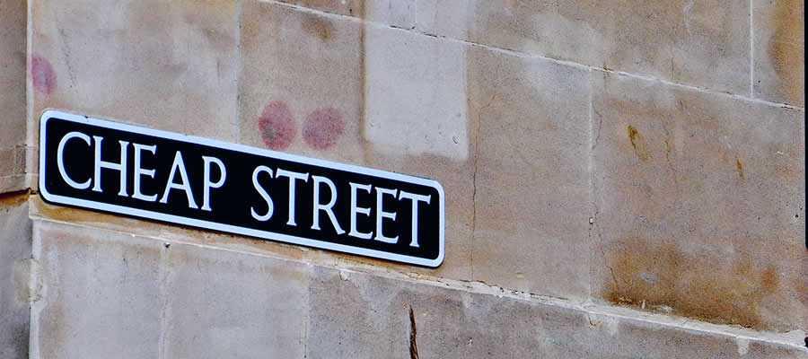 cheap street sign