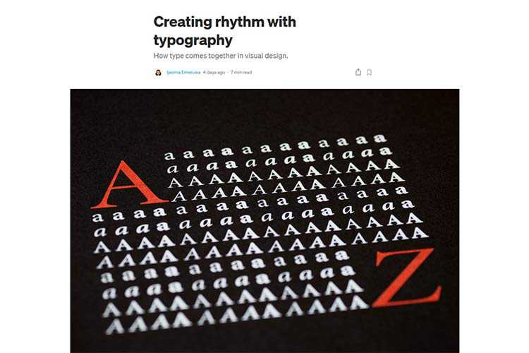Example from Creating rhythm with typography