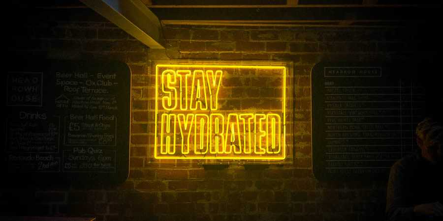 stay hydrated drink neon sign