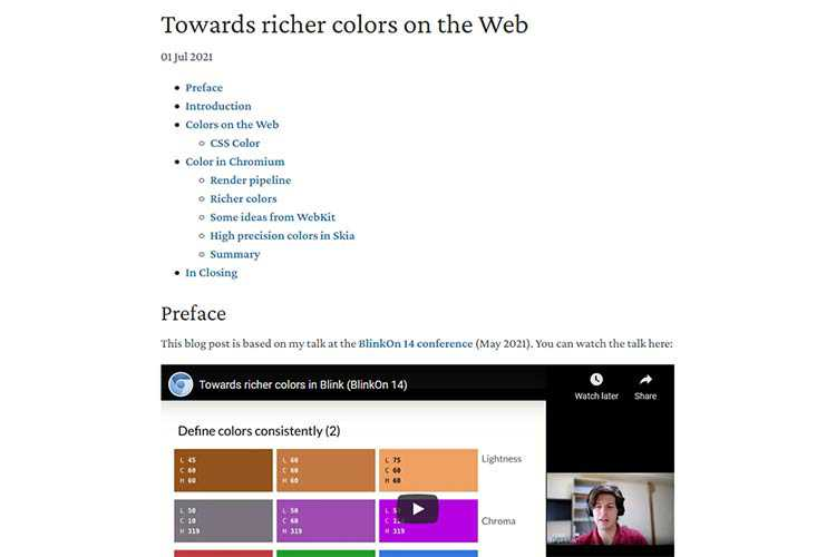 Example from Towards richer colors on the Web