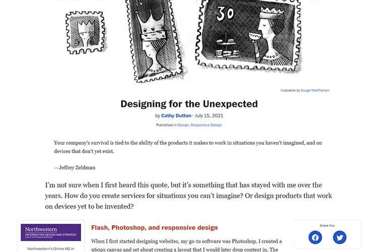 Example from Designing for the Unexpected