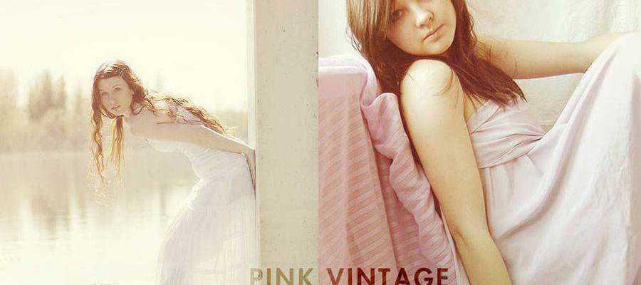 Pink Vintage free photoshop action atn