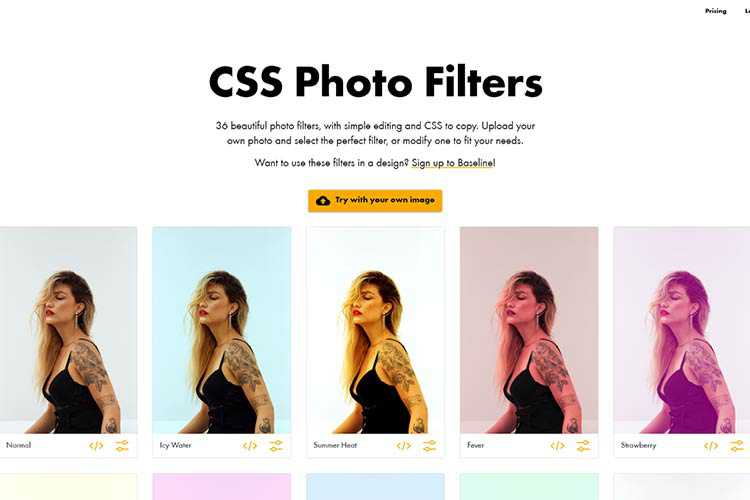 Example from CSS Photo Filters