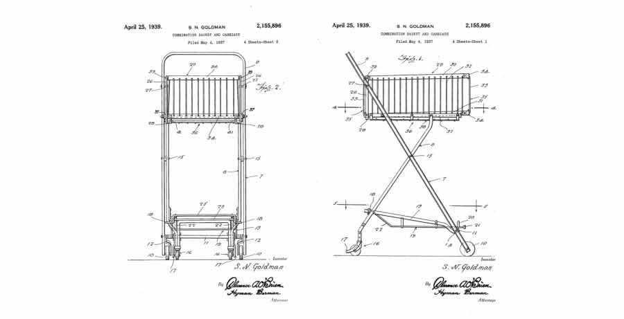 wireframe blueprint shopping cart Sylvan Goldman