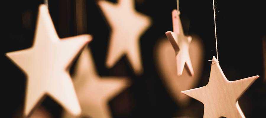Star-shaped artwork.