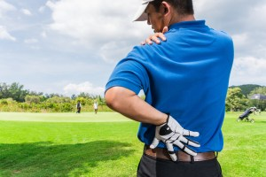 golfer with hip pain