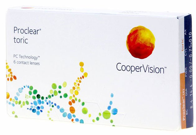 Proclear Toric 6Pk Contact Lenses For Astigmatism