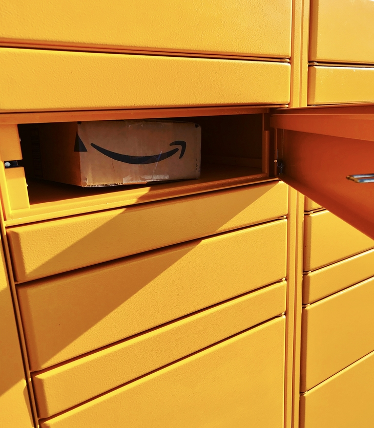 box inside of an Amazon Locker