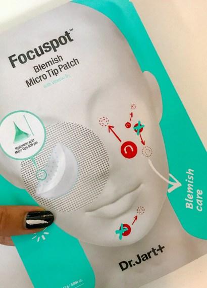 holding dr jart focuspot blemish micro tip patch