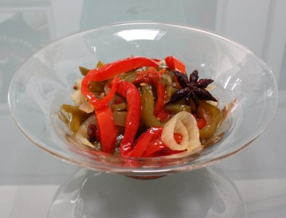 Spicy pickled peppers