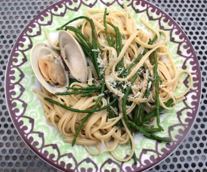 vongole with seabeans