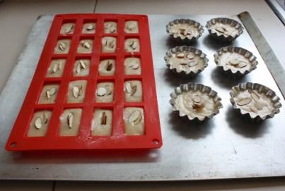 Financiers in baking pans