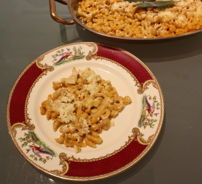 Pumpkin Spaetzle serving