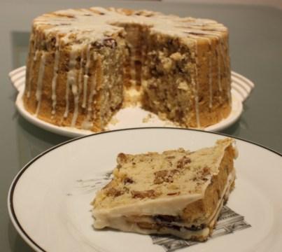 Sliced nut cake