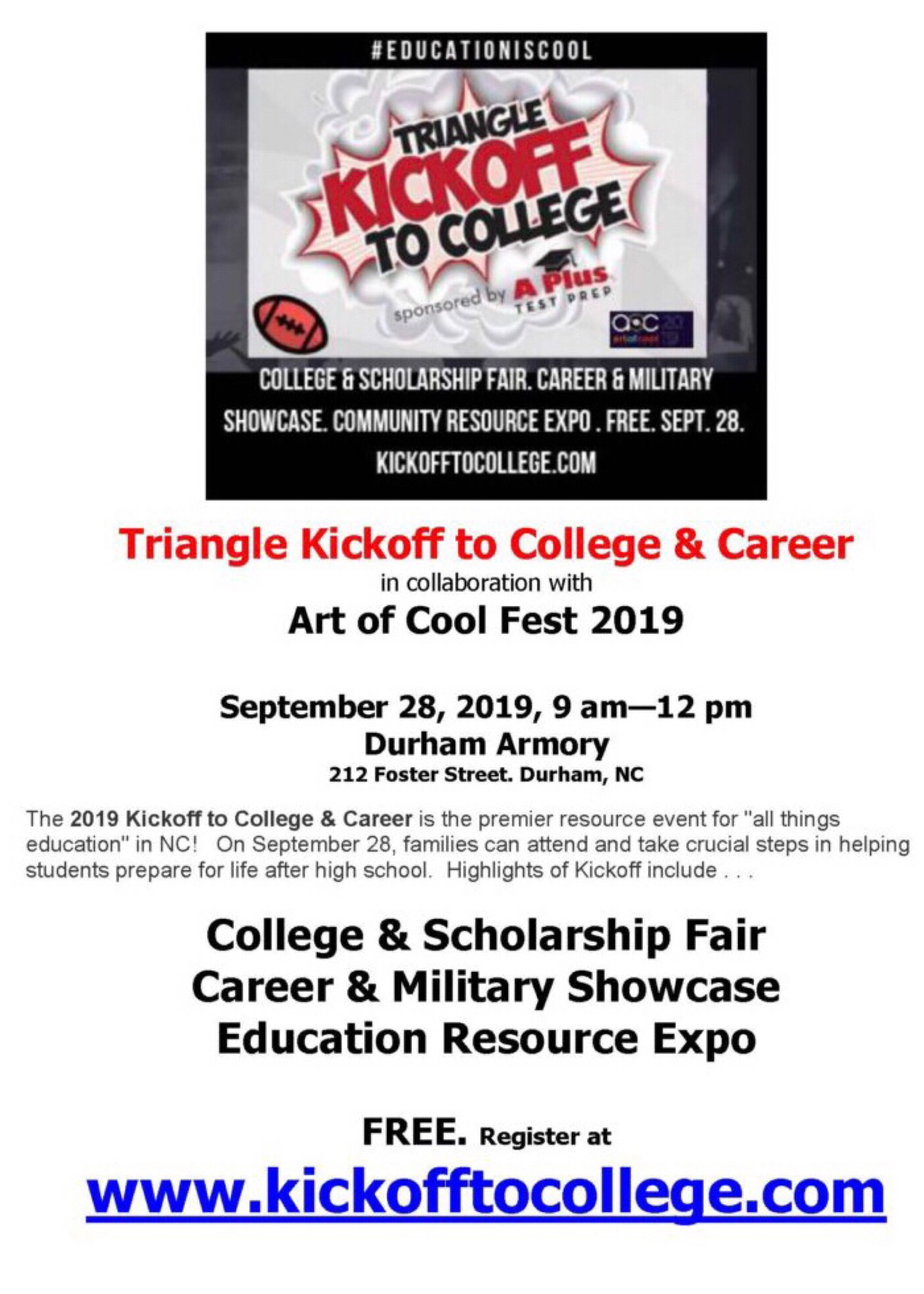 Kickoff To College Career 2019 In Collaboration With Art Of