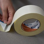 Double coated cloth tape, carpet installation, convention flooring, etc.