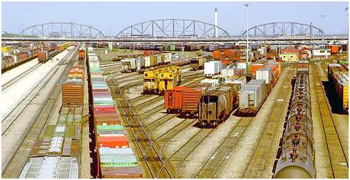 Canadian Pacific Railway marshalling yards , Winnipeg , Manitoba , Canada