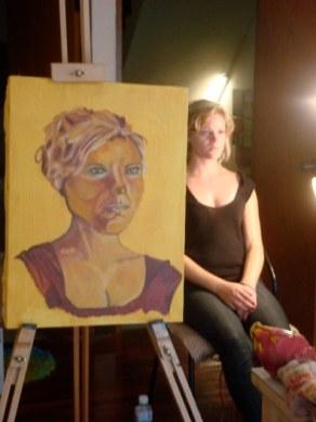Model portrait in process