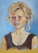 Joan's finished portrait of model