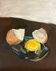 "Egg study, oil on canvas panel, 8"" x 10"""