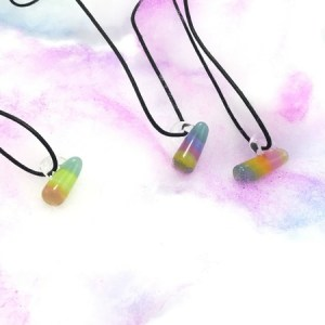 Rainbow Mike Ike Pendant