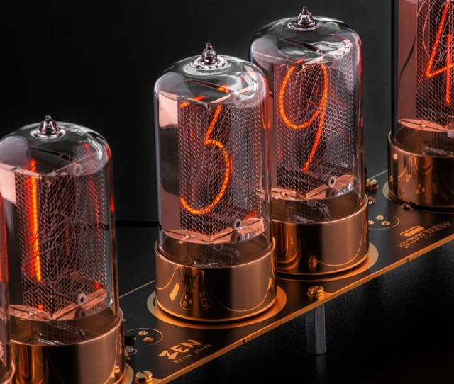Photo Of A Clock Features Modern Day Nixie Tubes Made By Dalibor Farny