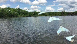 This aquatic drone has a clever mechanism that allows it to efficiently take off and land on water