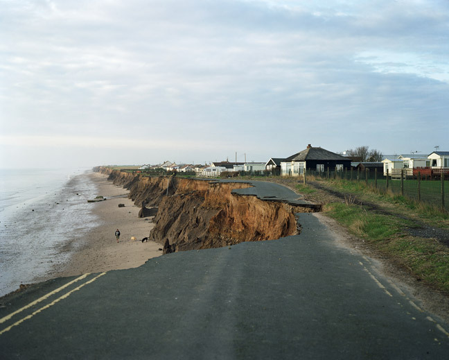 Road falling into the sea.