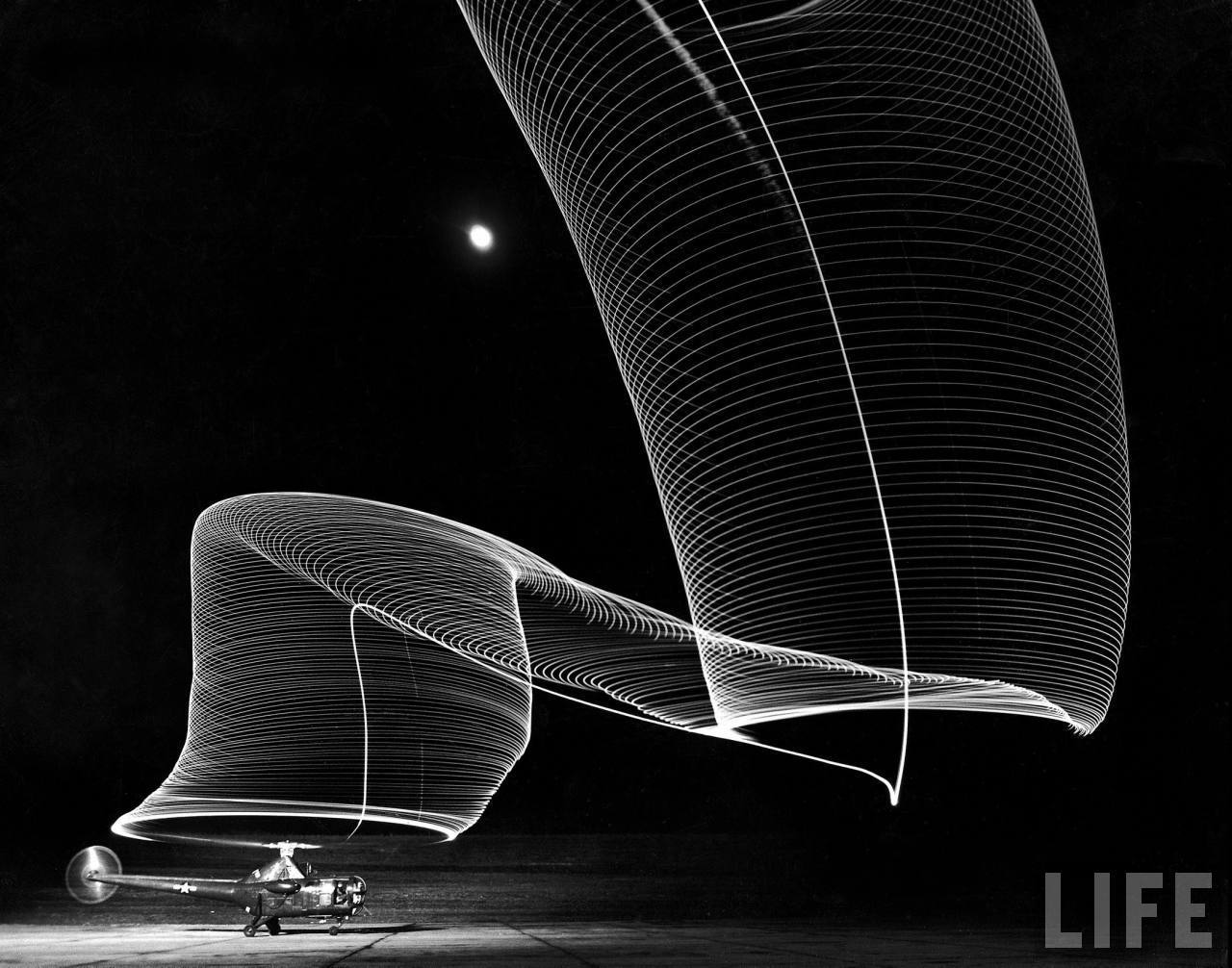 Helicopter Time Exposure – LIFE Magazine