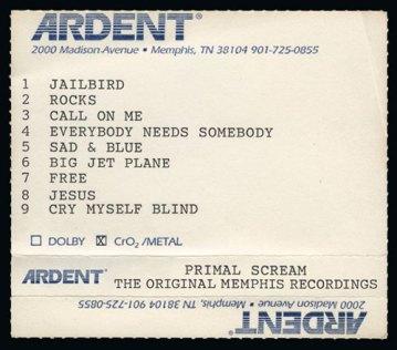Resultado de imagen de Primal Scream - The Original Memphis Recordings
