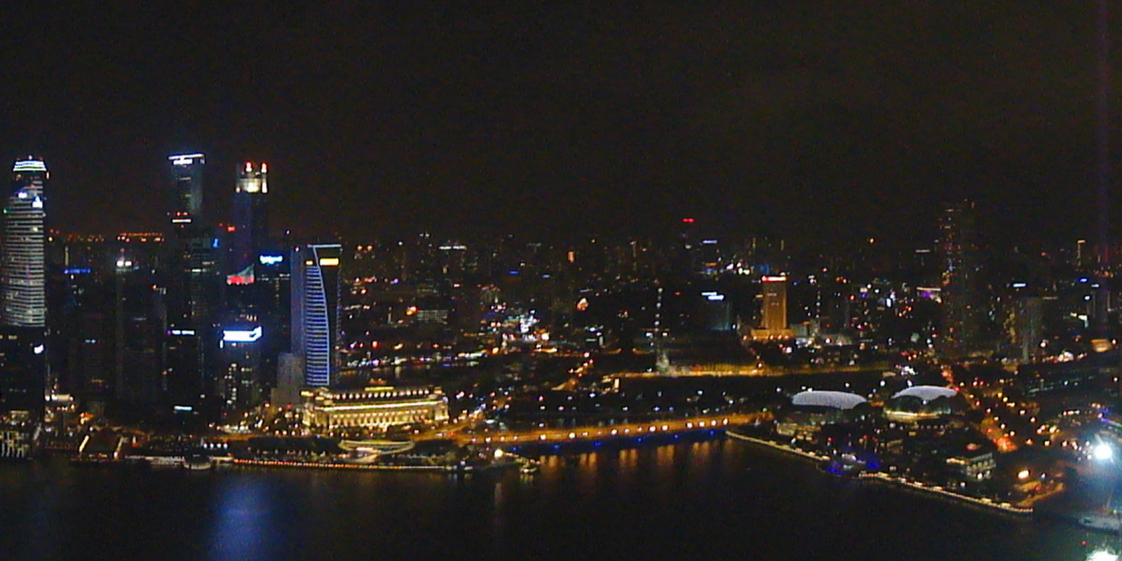 Spectrum TV Singapore Skyline Night Photo