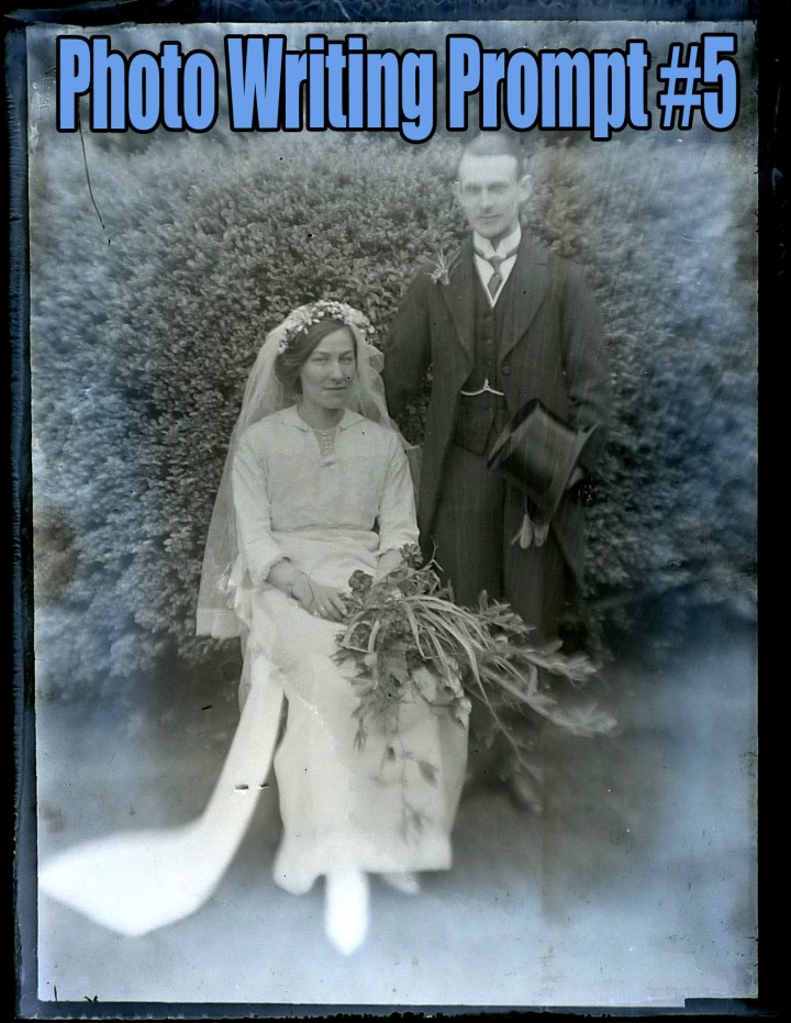 photo writing prompt, couple, wedding, old fashioned