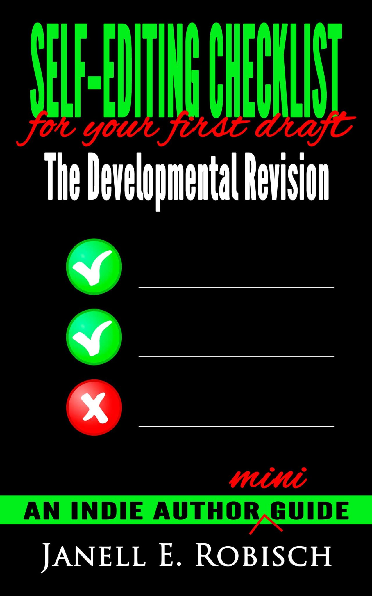 self-editing checklist, revision, self-editing, indie author guide