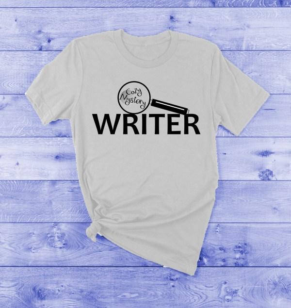 cozy mystery writer t-shirt
