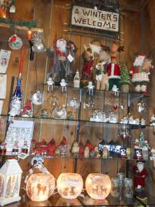Speculator Department Store winter themed gift display