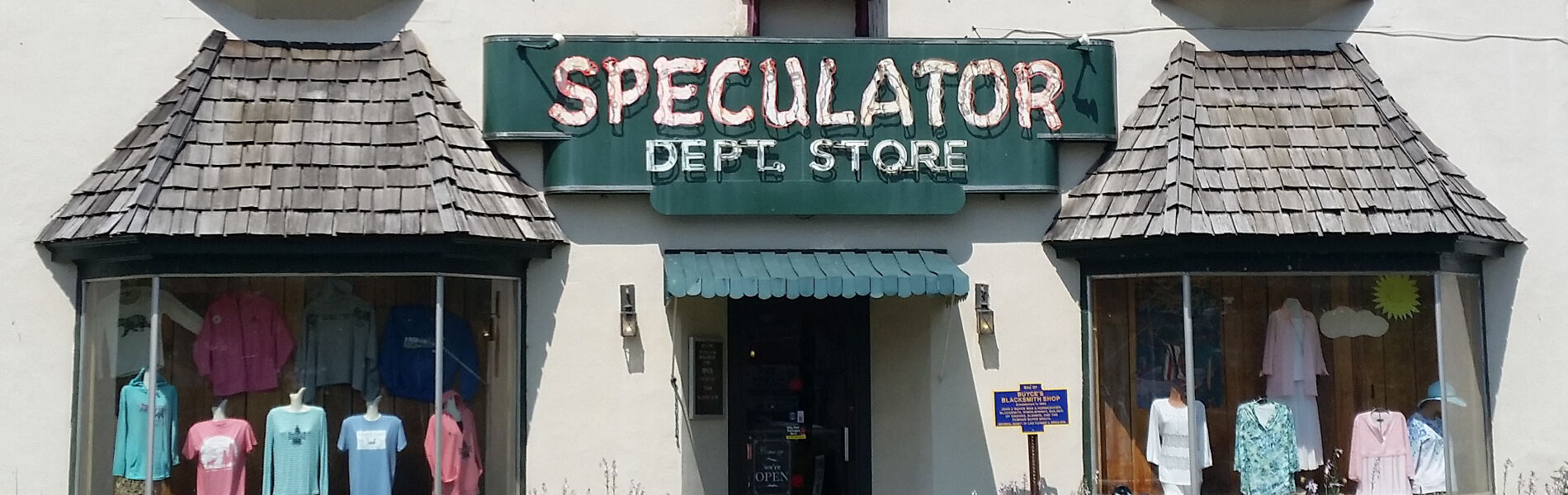 Speculator Department Store entrance