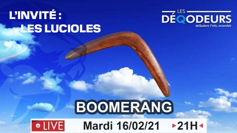 BOOMERANG – L'invité (live du 16 février)