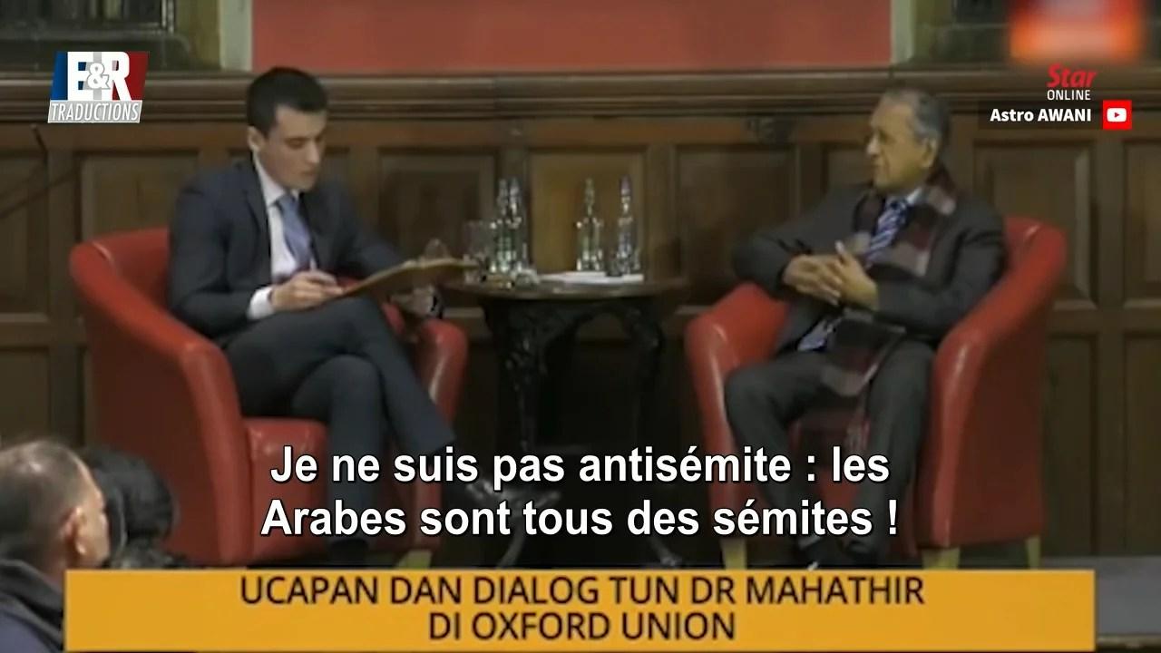 Je ne suis pas antisémite : les arabes sont tous des sémites !
