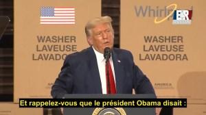 """Trump : """"Je ferai toujours passer les travailleurs américains en premier"""""""