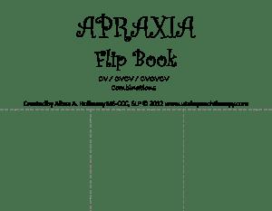 Apraxia flip book