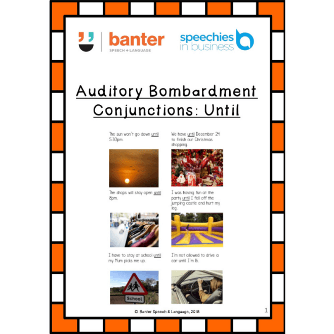 Auditory Bombardment Conjunction Until cover page