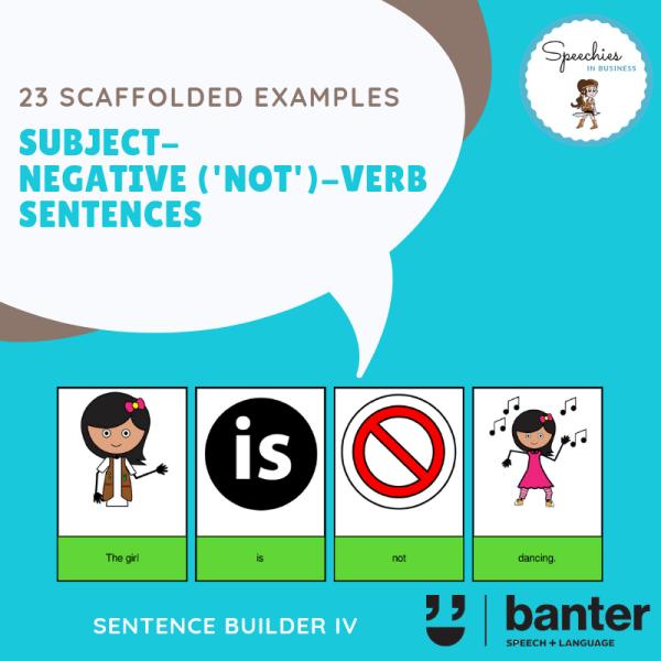 Subject Negative Not Verb Sentences