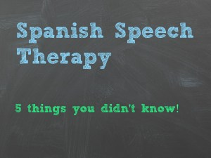 spanish speech therapy