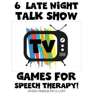 6 Late Night Talk Show Games for Use in Therapy with Older Elementary and Middle School